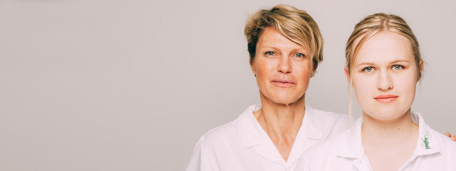 Zahnärztinnen Antje und Anne Stille aus Magdeburg.